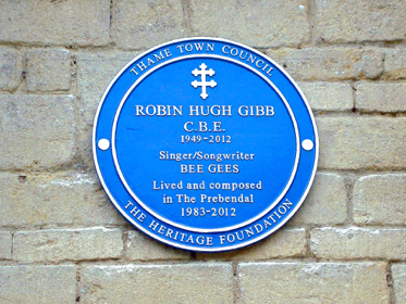 Robin Gibb Cbe Of The Bee Gees Blue Plaque Unveiling